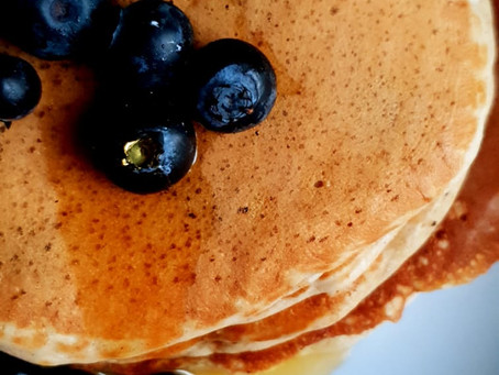 Multigrain Blue Berry Pancakes - Vegan