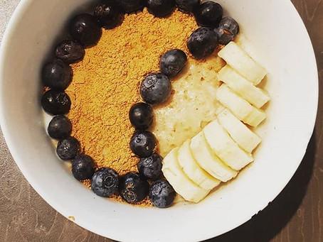 Banana & Blueberry Oats Protein Breakfast!