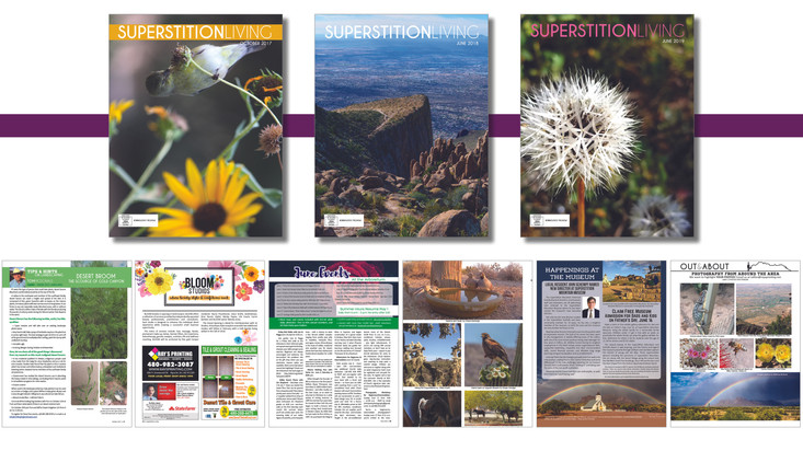 Superstition Living formerly the Gold Canyon Ledger. Design and layout from 2004 - 2020
