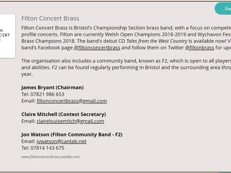 Filton Concert Brass joins GBBA