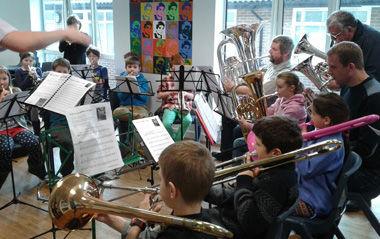 training band playing