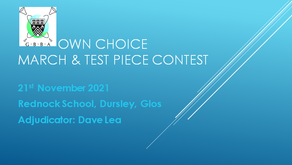 GBBA ANNOUNCE: March & Test Piece Contest 2021