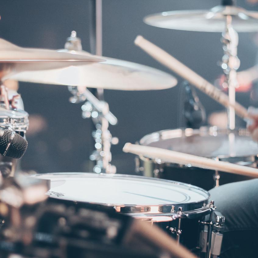 Drum kit closeup