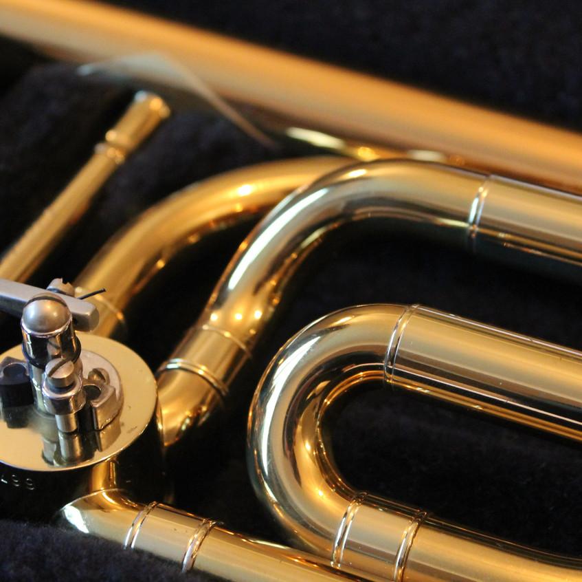 Brass instrument close up