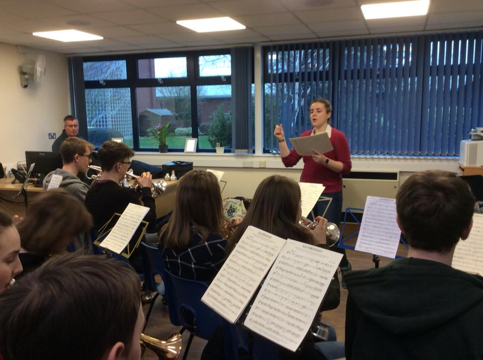 Emily Wilson takes cornet sectionals on the second day