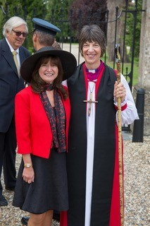 Debbie Wiseman OBE (left) and RAF Chaplain-in-Chief (right)