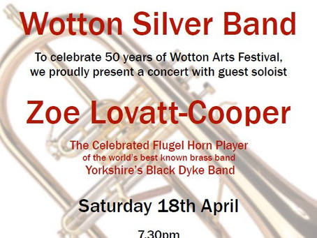 CONCERT CANCELLED - Wotton Arts Festival moves to Wotton Baptist Church