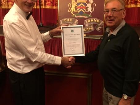 GBBA presents Britton 65 year certificate
