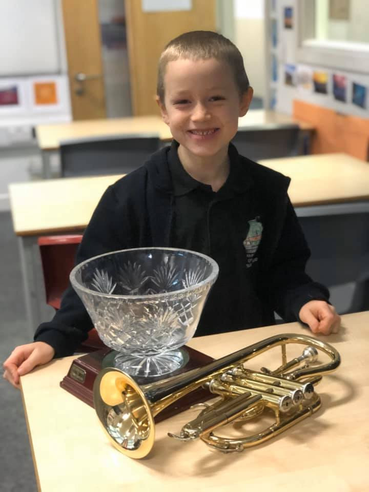 Bertie wins youngest player for Lydbrook Training Band