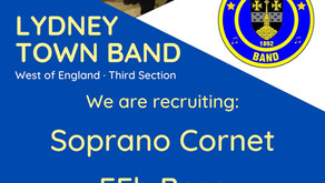 Lydney Town Band vacancies for Soprano Cornet and EEb Bass