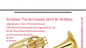 SWBBA Announce 20th Exmouth Brass Band Festival