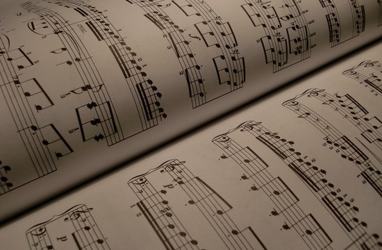 close up photo of music score