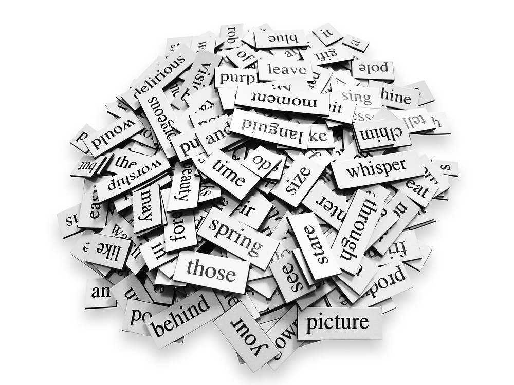 Pile of word magnets