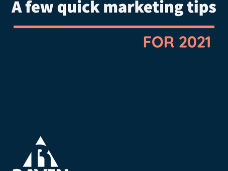 A Few Quick Marketing Ideas for 2021