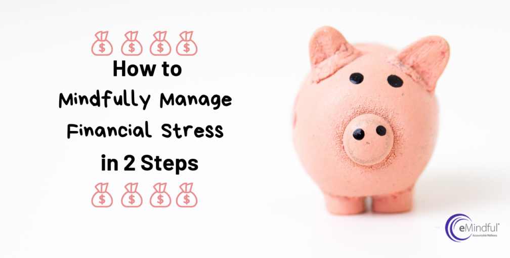 how to mindfully manage financial stress in 2 steps