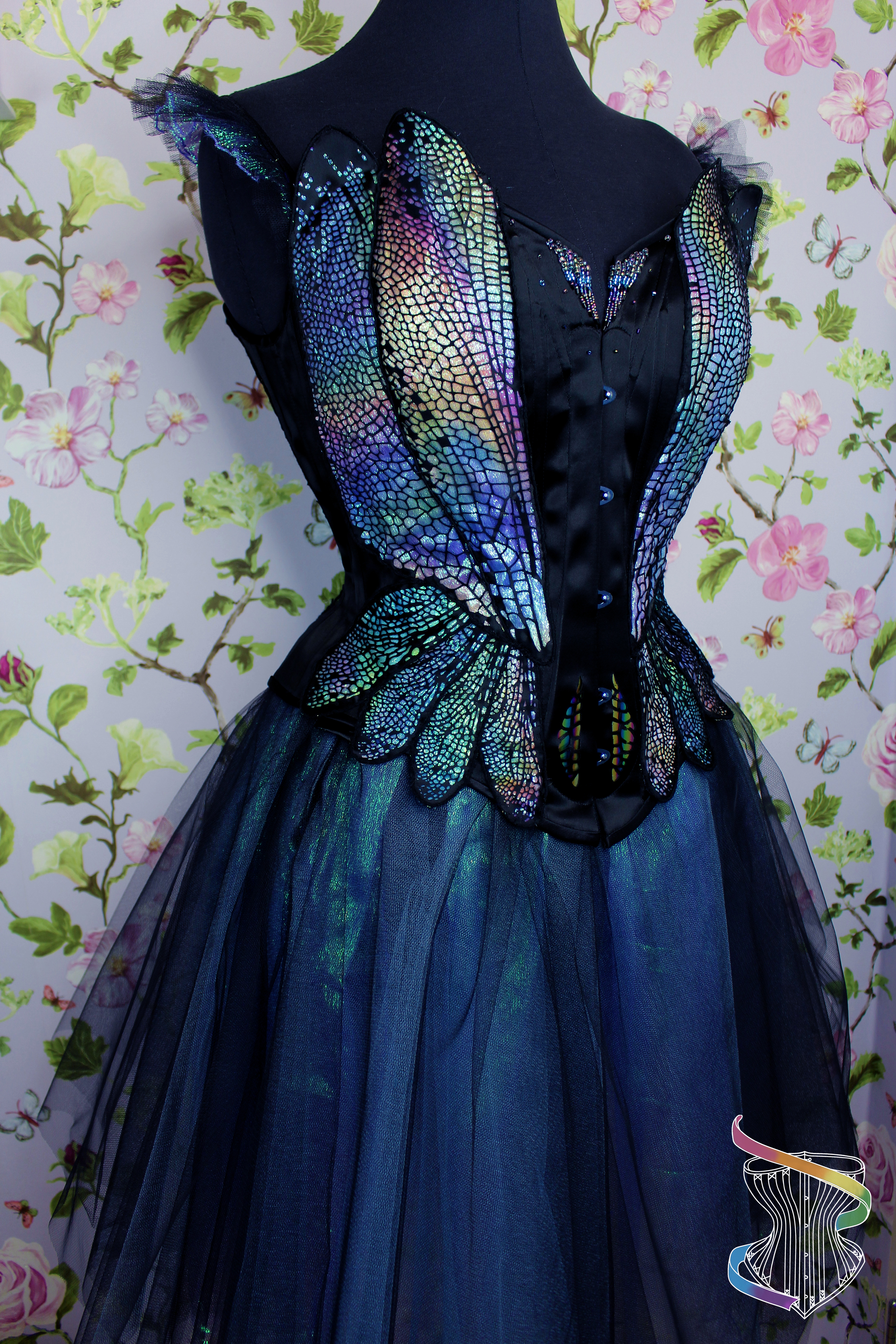 Dragonfly corset with tule skirt