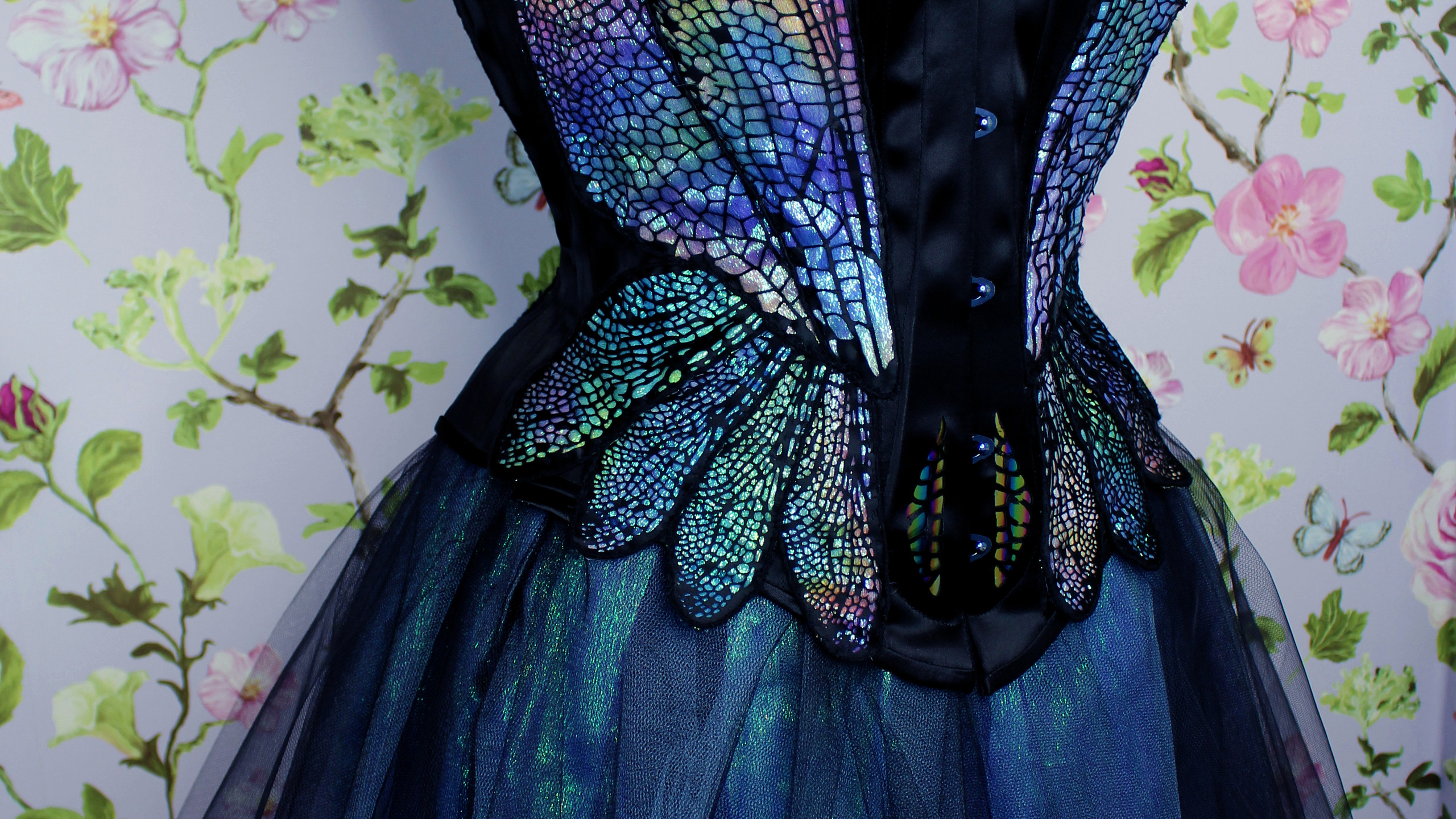 dragonfly corset with romantic tutu