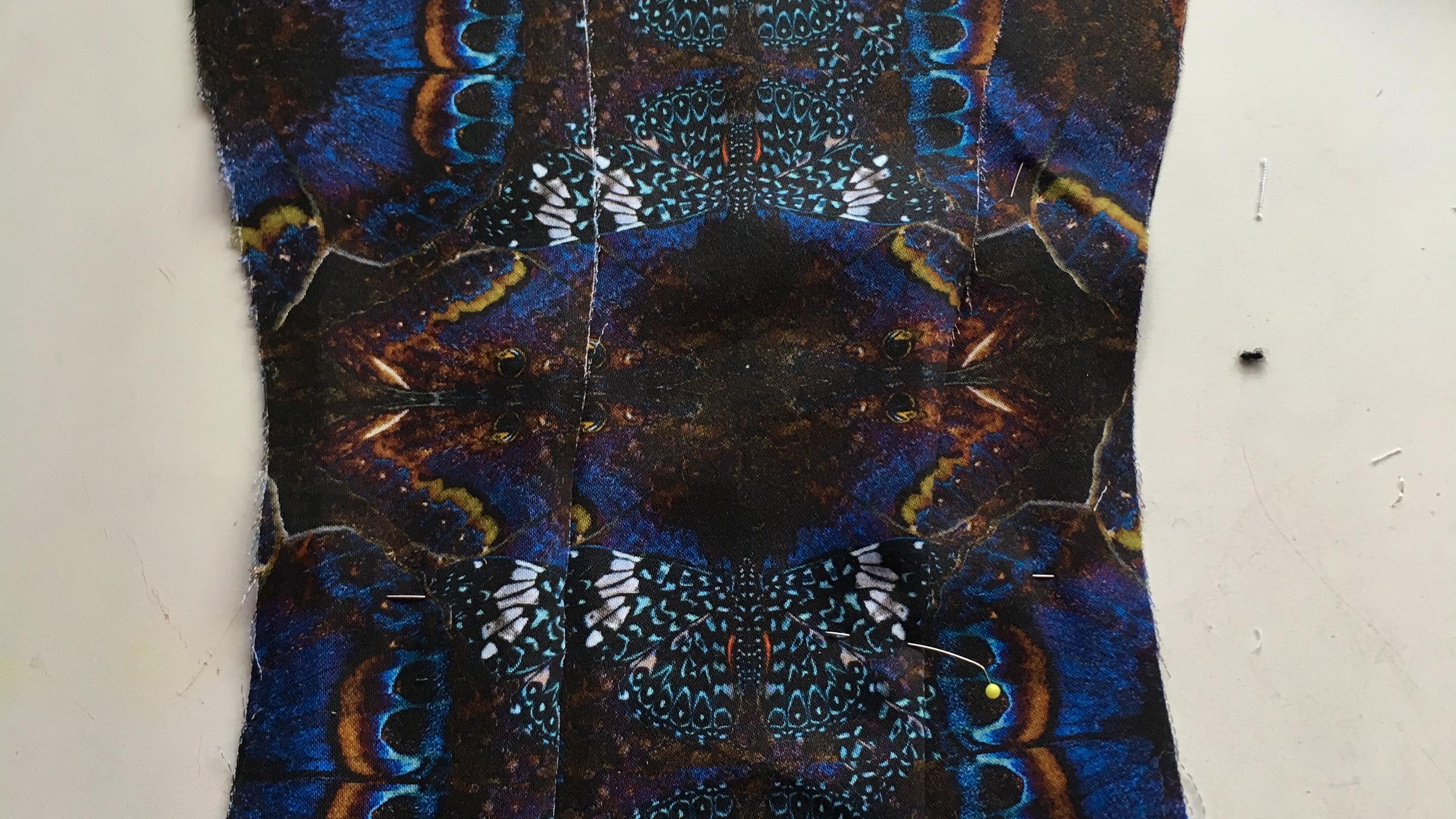 Pattern matching corset pieces
