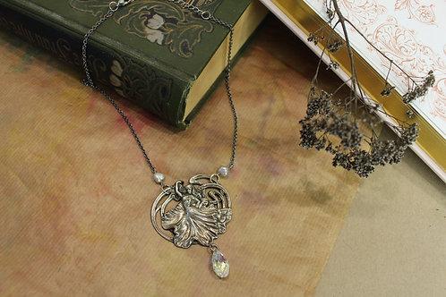 Art Nouveau necklace of dancing girl