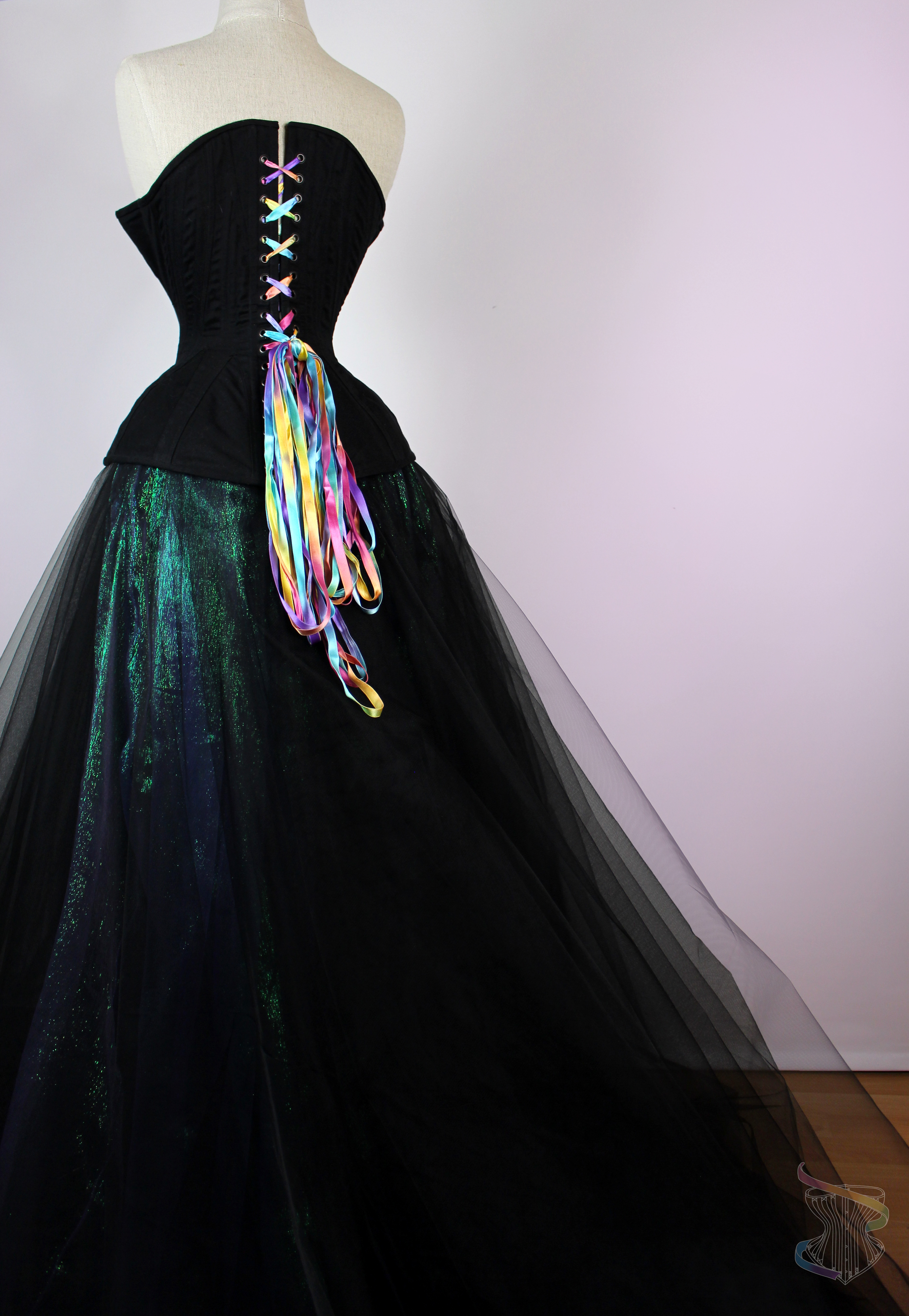 Black Corset with tulle skirt
