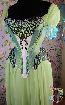 Luna moth corsetted gown