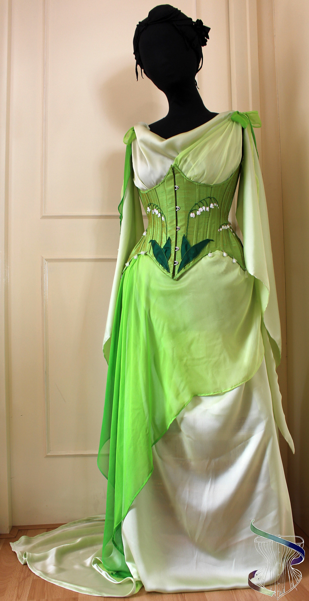 lily of the valley corset and gown