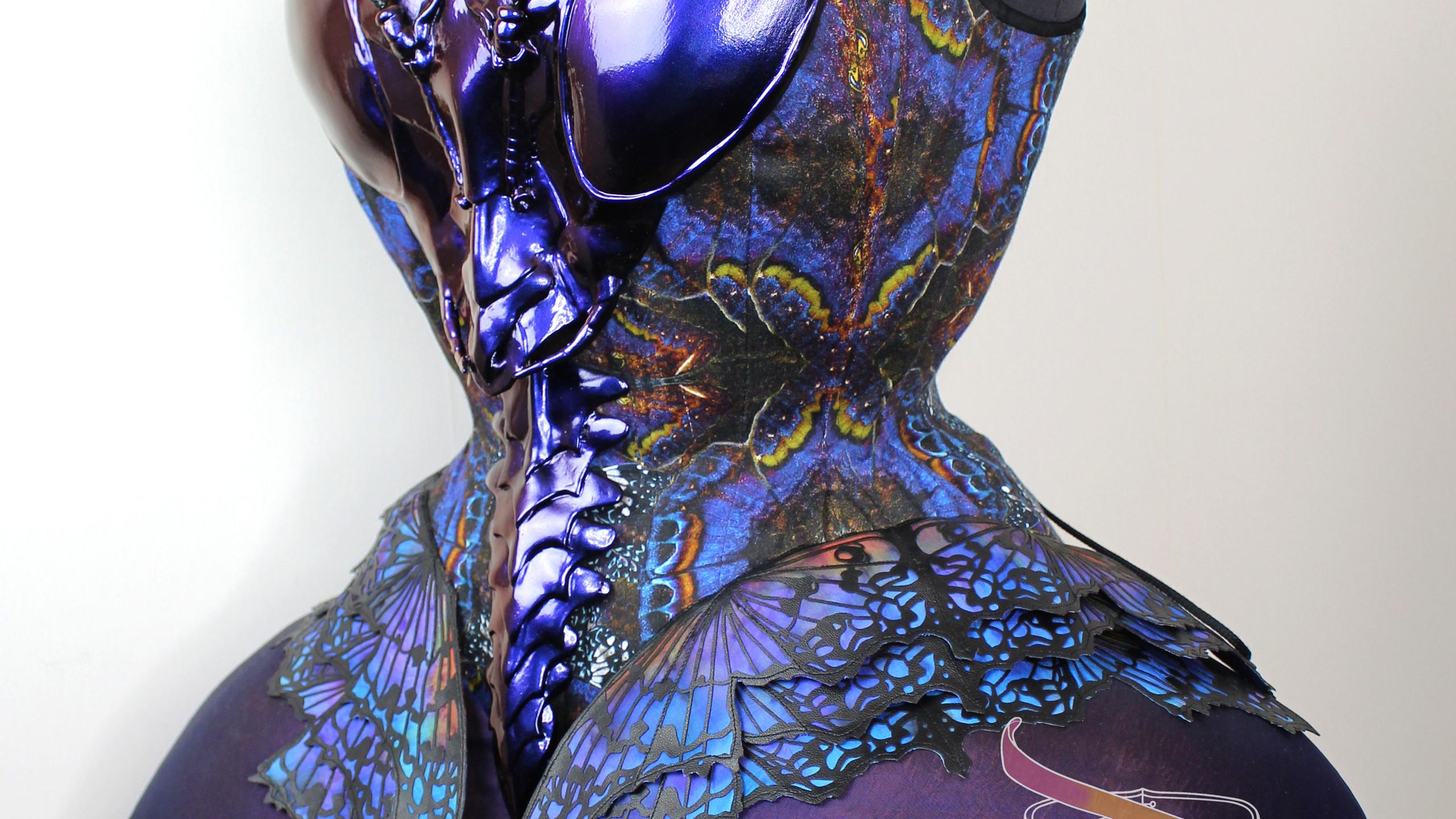 Praying Mantis corset side