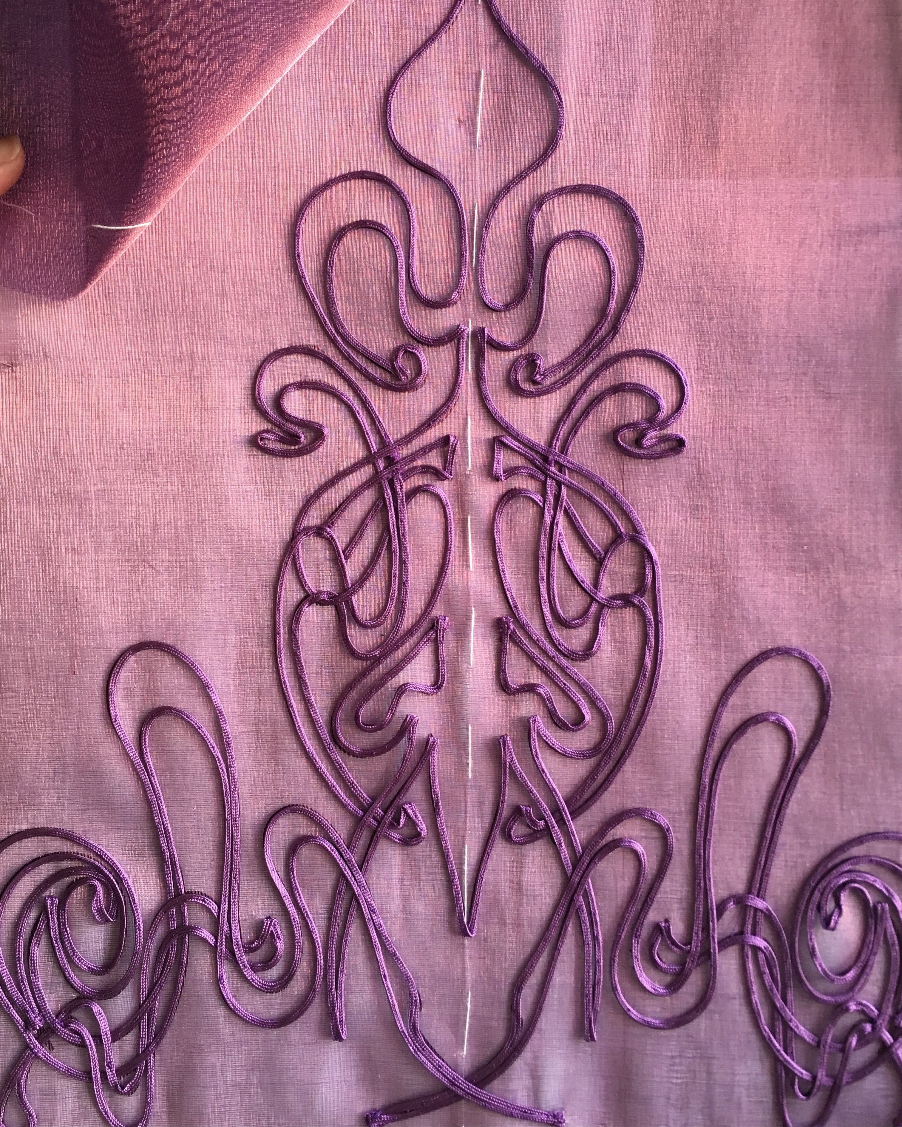Detail of skirt decorations