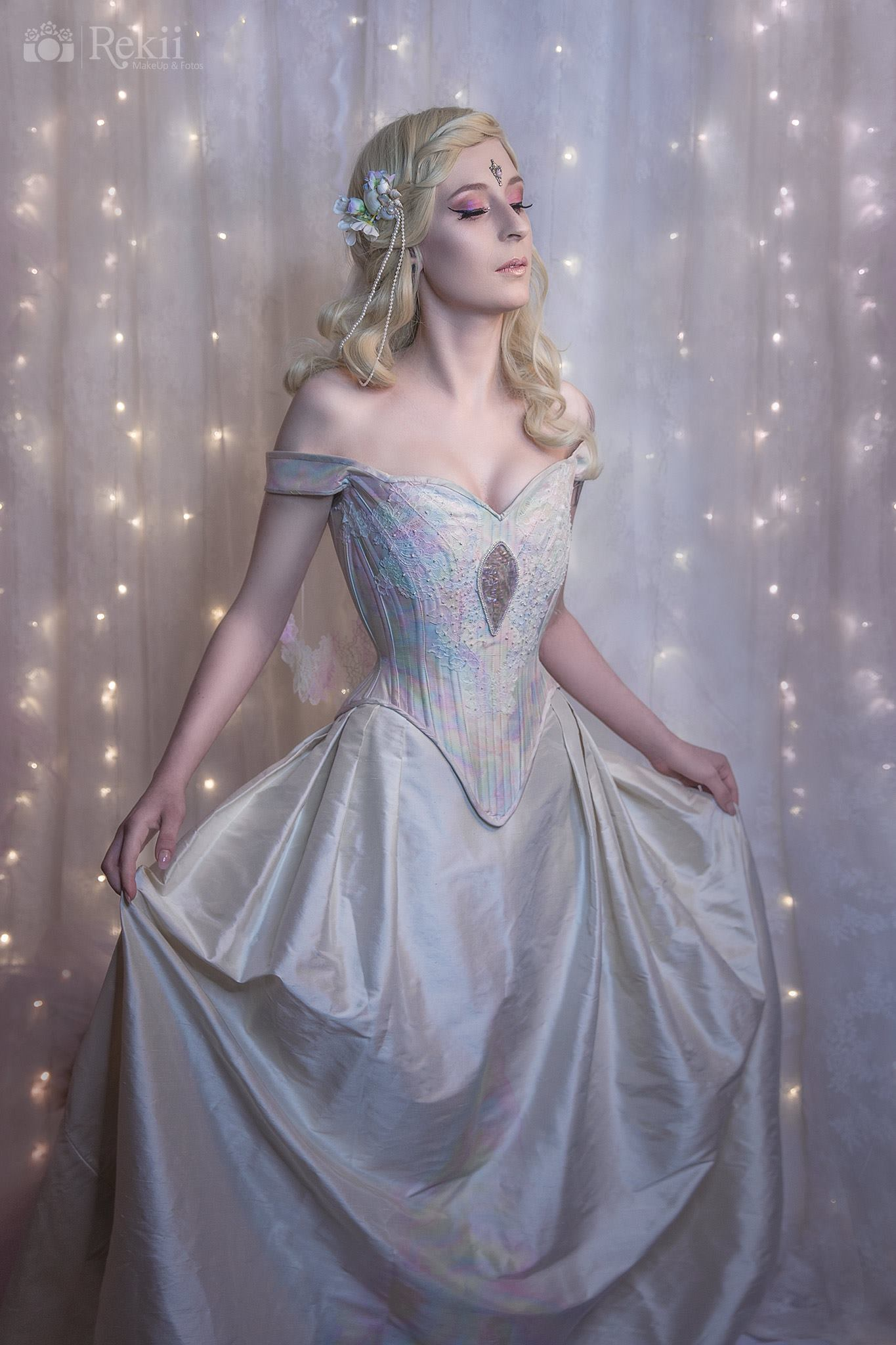Mother of pearl wedding gown
