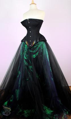 Black Underbust & Dragonfly Skirt