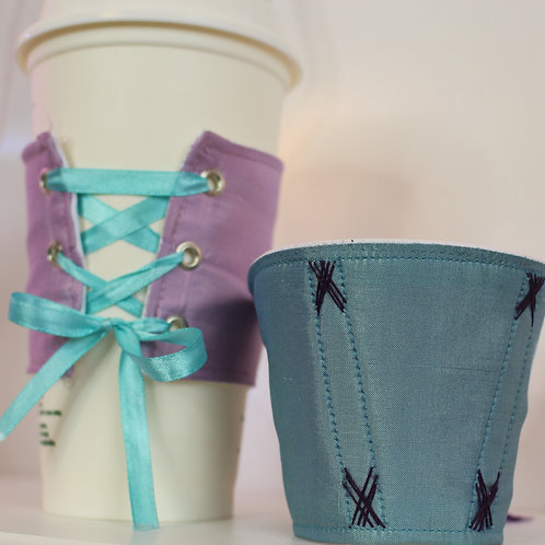 Corset coffee cozy (made to order)