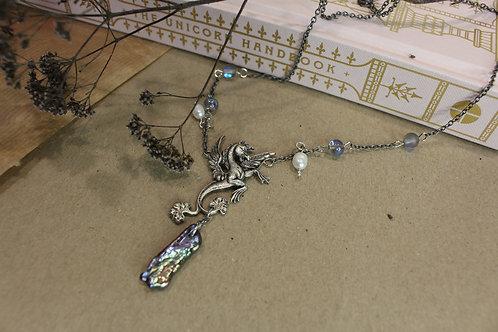 Kelpie necklace with baroque pearl