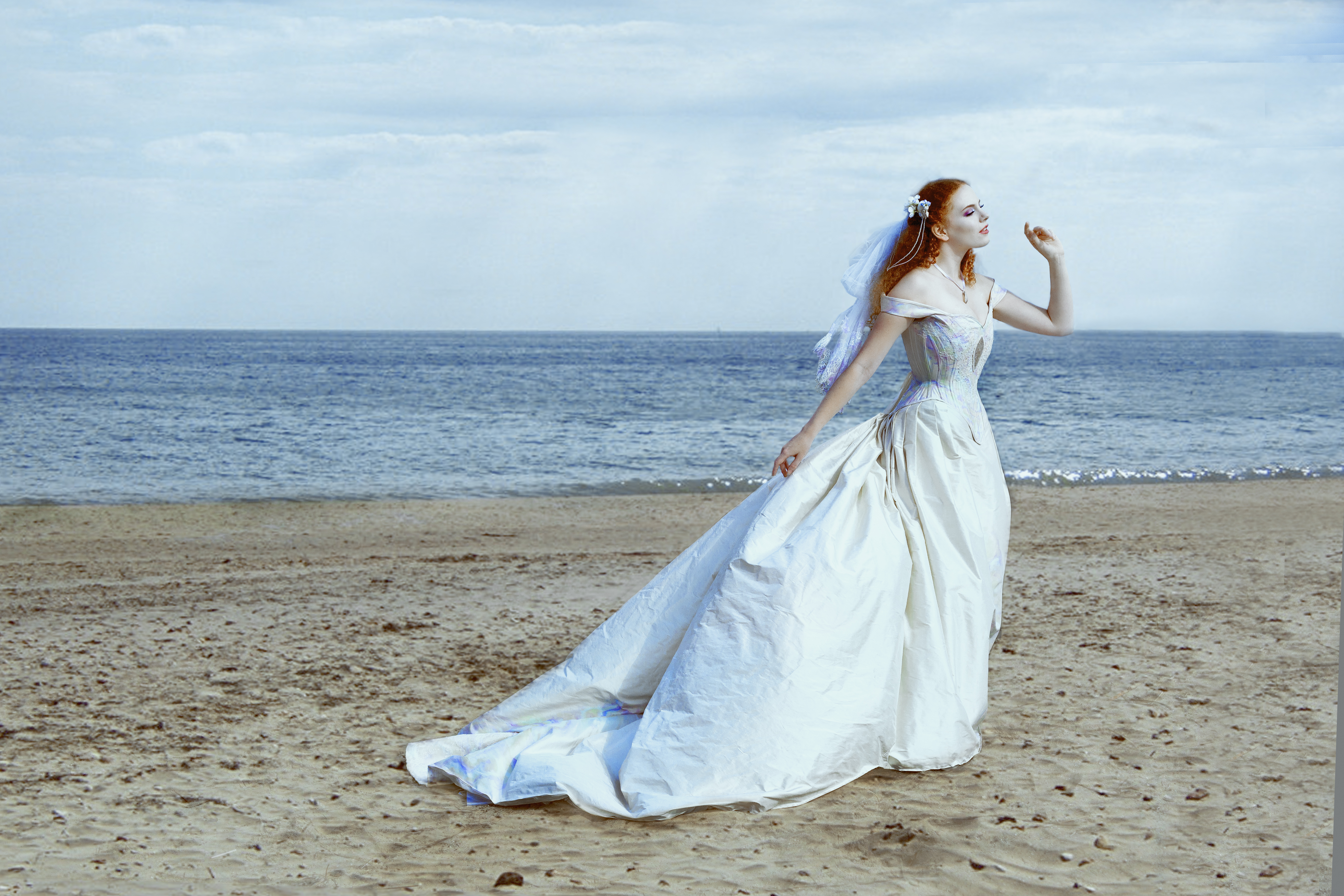 Mother of Peal Wedding Gown
