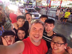 Having fun with China students