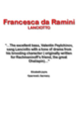 Lanciotto Francesca da Ramini press quot