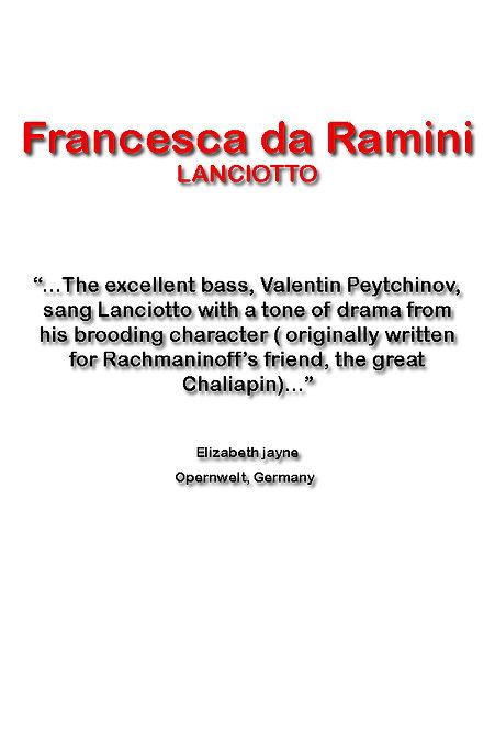 Lanciotto Francesca da Ramini press quot