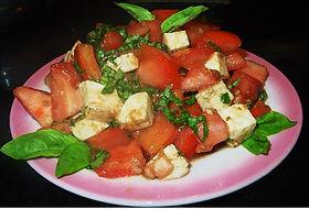 Tomato Basil Salad w/Fresh Mozzarella and Doc's Sauces