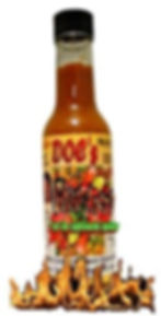 5X hot sauce with habanero peppers, bhut jolokia peppers