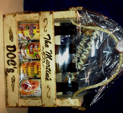 Wood Crate Basket WITH Engraving-  Item DHH-54