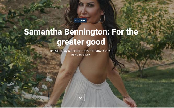 Samantha Bennington: For the greater good
