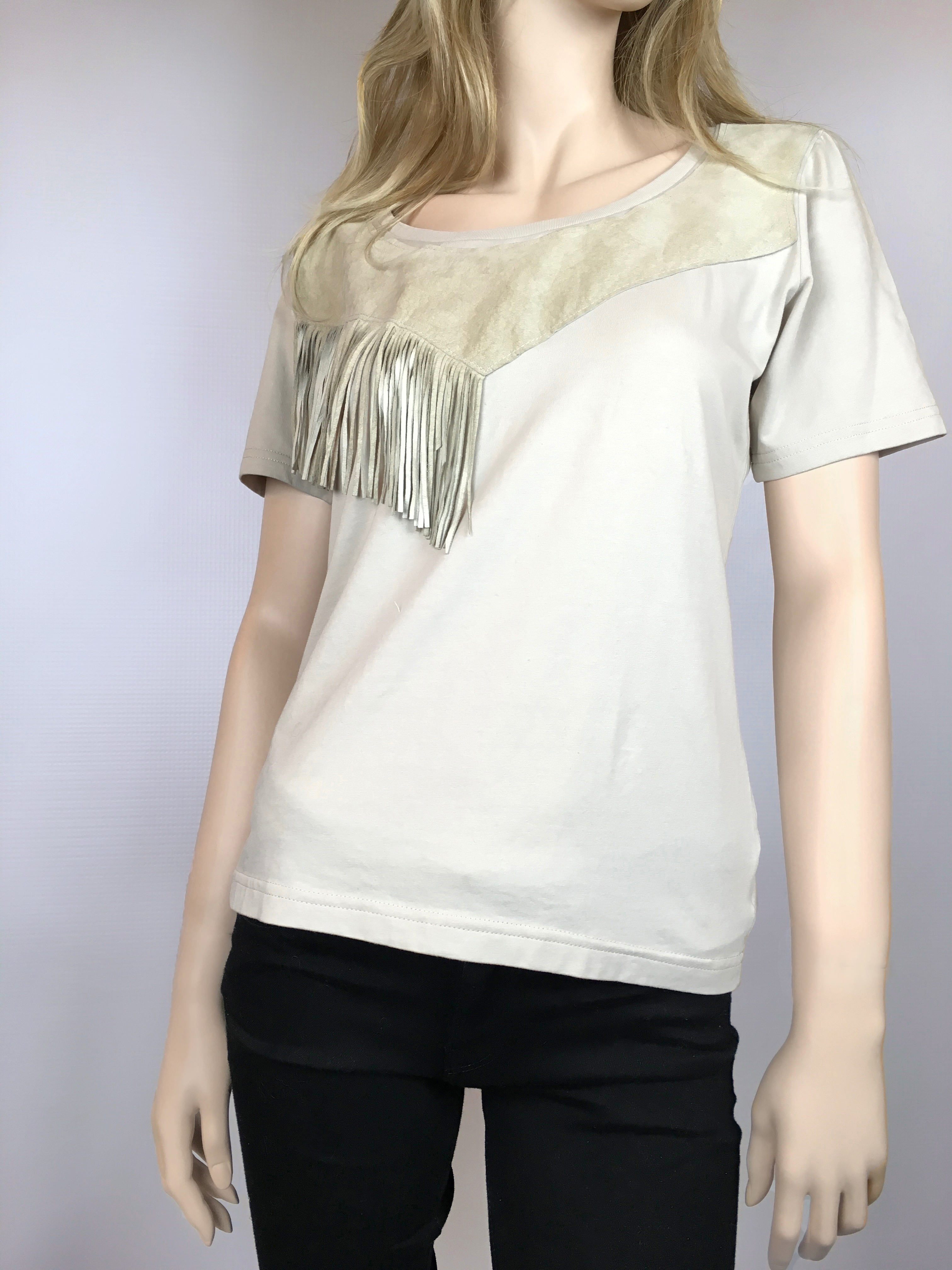 MILOVA 2017 T-shirt plastron cuir