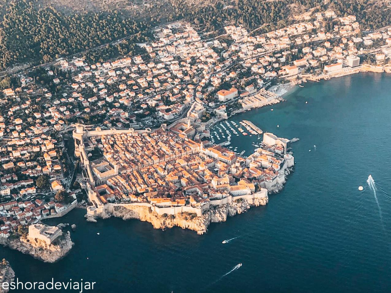 Dubrovnik desde el avión