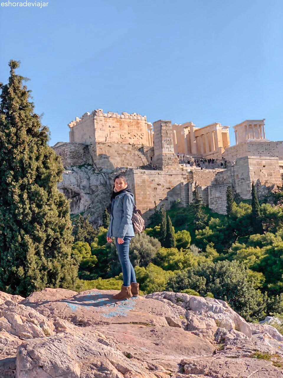 Acrópolis desde la Colina del Areópago