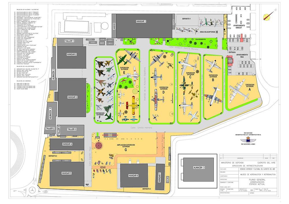 Plano del Museo del Aire