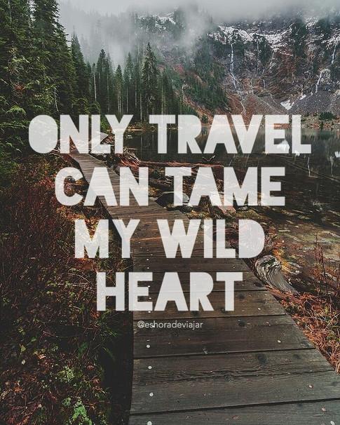 Only travel can tame my wild heart - Travel Quotes