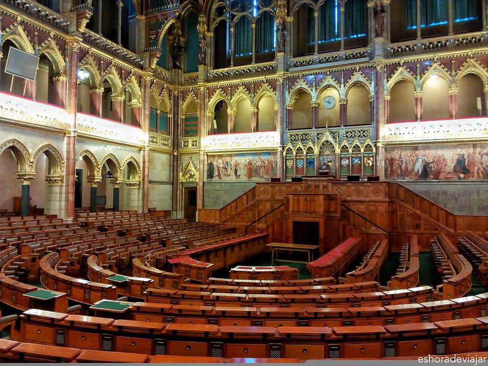 Interior del Parlamento de Budapest