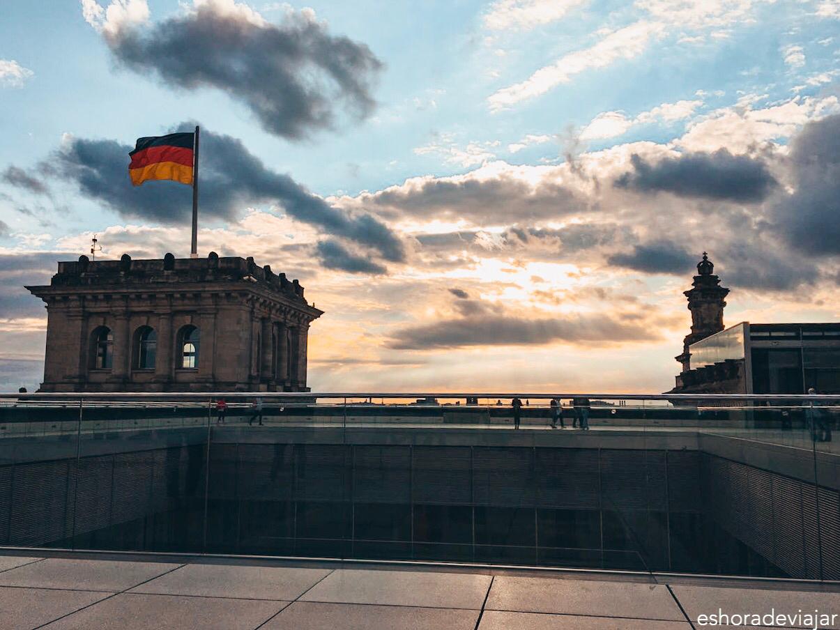 Atardecer desde el Reichstag