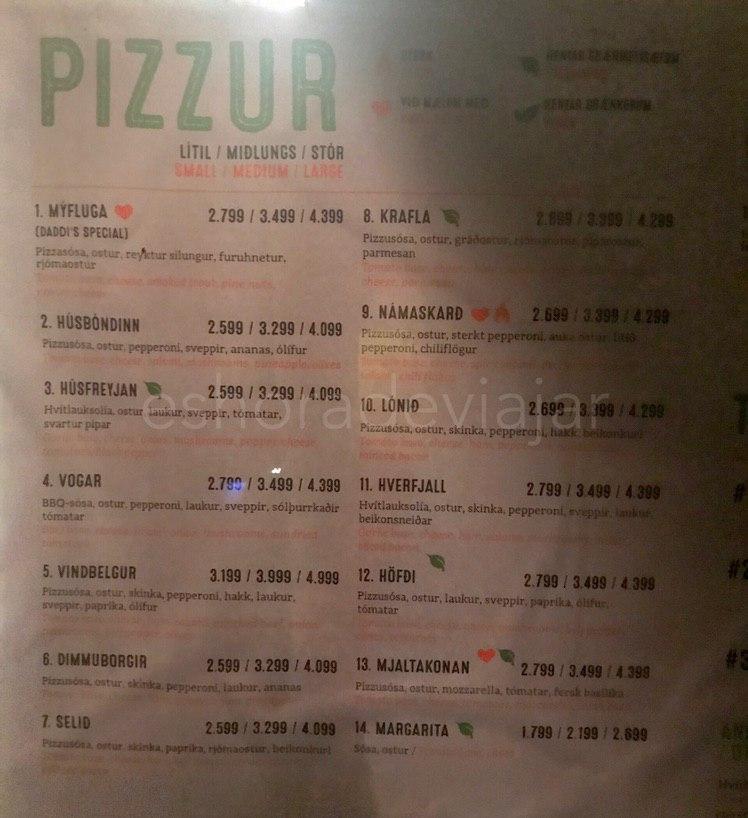 Daddis Pizza Islandia precios