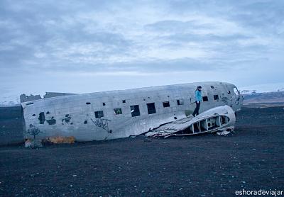 Avión abandonado en Islandia