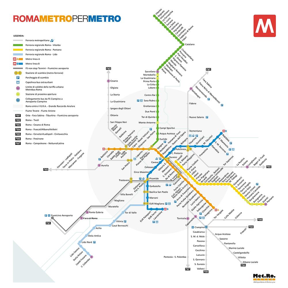 Mapa metro Roma